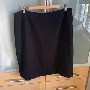Black skirt classic cut